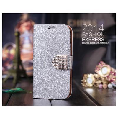 Microsonic Pearl Simli Taşlı Deri Iphone 6 (4.7) Kılıf Beyaz Cep Telefonu Kılıfı