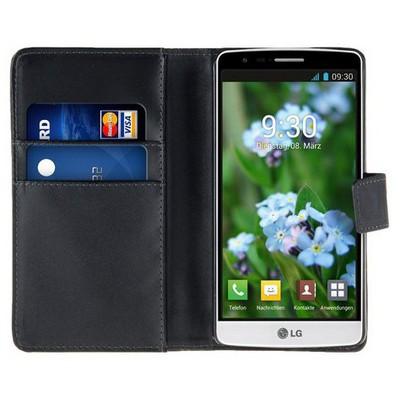 Microsonic Cüzdanlı Deri Lg G3 S (g3 Mini, G3 Beat) Kılıf Siyah Cep Telefonu Kılıfı