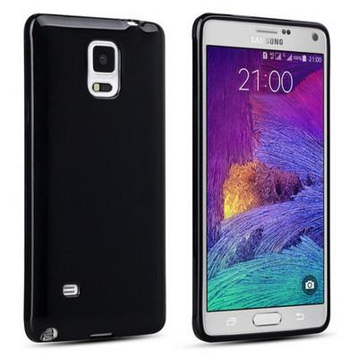 Microsonic Glossy Soft Samsung Galaxy Note 4 Kılıf Siyah Cep Telefonu Kılıfı