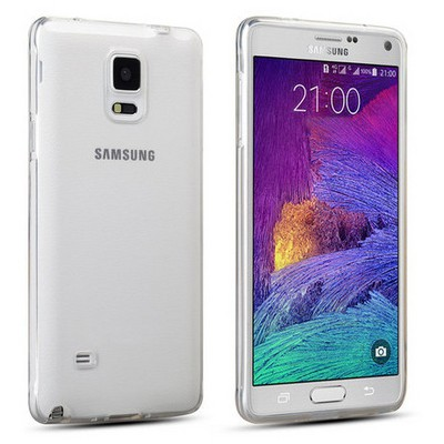 Microsonic Glossy Soft Samsung Galaxy Note 4 Kılıf Şeffaf Cep Telefonu Kılıfı