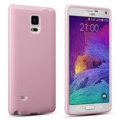Microsonic Glossy Soft Samsung Galaxy Note 4 Kılıf Pembe Cep Telefonu Kılıfı