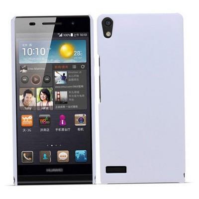 Microsonic Premium Slim Huawei Ascend P6 Kılıf Beyaz Cep Telefonu Kılıfı