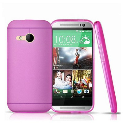 Microsonic Transparent Soft Htc One Mini 2 (m8 Mini) Kılıf Pembe Cep Telefonu Kılıfı