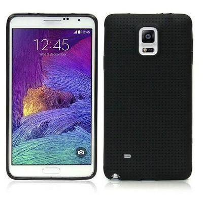 Microsonic Dot Style Silikon Samsung Galaxy Note 4 Kılıf Siyah Cep Telefonu Kılıfı