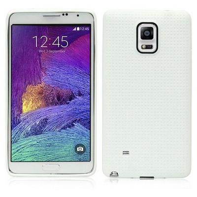 Microsonic Dot Style Silikon Samsung Galaxy Note 4 Kılıf Beyaz Cep Telefonu Kılıfı