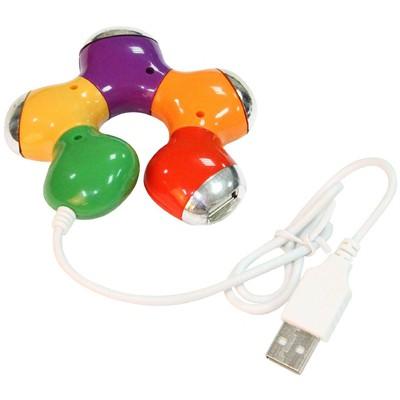 Flaxes Fuc-202 Usb 2.0 Çoklayıcı 1 Giriş 4 Çıkış Renkli USB Aksesuarı