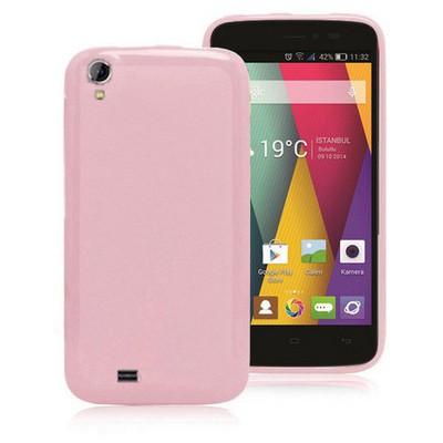 Microsonic Glossy Soft General Mobile Discovery 2 Mini Kılıf Pembe Cep Telefonu Kılıfı