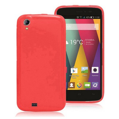 Microsonic Glossy Soft General Mobile Discovery 2 Mini Kılıf Kırmızı Cep Telefonu Kılıfı