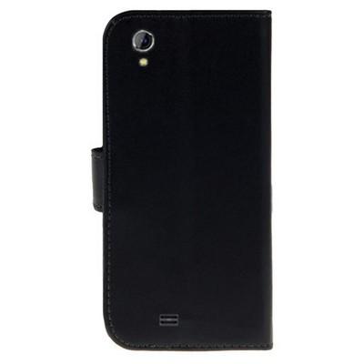 Microsonic Cüzdanlı Deri General Mobile Discovery 2 Mini Kılıf Siyah Cep Telefonu Kılıfı