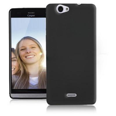 Microsonic Glossy Soft Casper Via V5 Kılıf Siyah Cep Telefonu Kılıfı