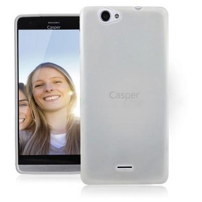 Microsonic Glossy Soft Casper Via V5 Kılıf Beyaz Cep Telefonu Kılıfı