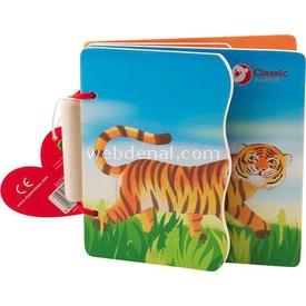 Yakamoz Ahşap Vahşi Hayvanlar Kitabım Ahşap Oyuncaklar