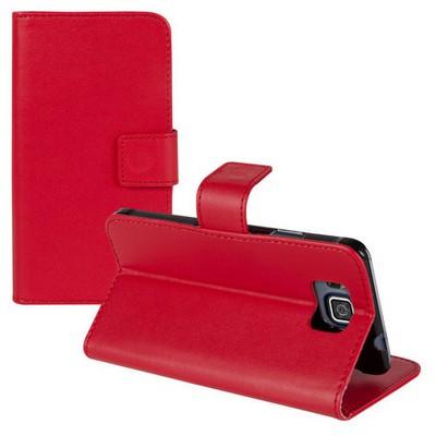 Microsonic Cüzdanlı Standlı Deri Samsung Galaxy Alpha Kılıf Kırmızı Cep Telefonu Kılıfı