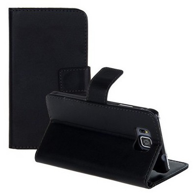 Microsonic Cüzdanlı Standlı Deri Samsung Galaxy Alpha Kılıf Siyah Cep Telefonu Kılıfı