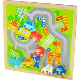 Yakamoz Ahşap Koordinasyon Aleti - Şehir Oyunu Ahşap Oyuncaklar