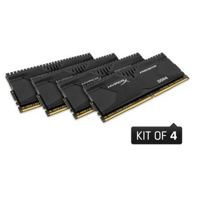 Kingston HyperX Predator 4x4GB Bellek - HX424C12PB2K4/16