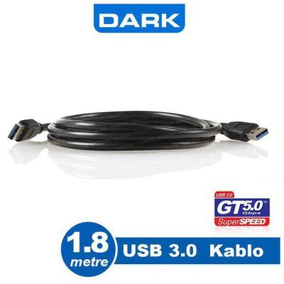 Dark Dk-cb-usb3al180 1.8m Usb 3.0 Erkek / Erkek Data Kablosu USB Kablolar
