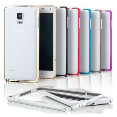 Microsonic Samsung Galaxy Note 4 Ultra Thin Metal Bumper Kılıf Gümüş Cep Telefonu Kılıfı