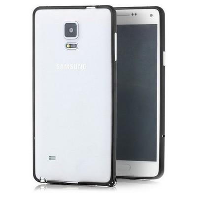 Microsonic Samsung Galaxy Note 4 Ultra Thin Metal Bumper Kılıf Siyah Cep Telefonu Kılıfı