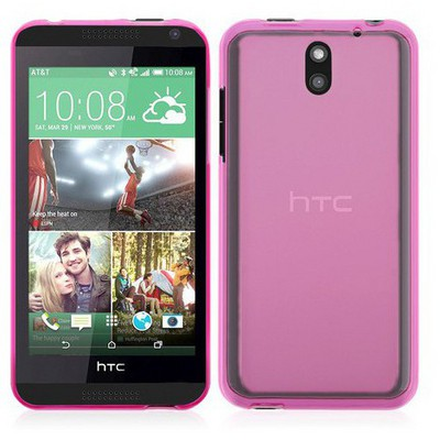 Microsonic Transparent Soft Htc Desire 610 Kılıf Pembe Cep Telefonu Kılıfı