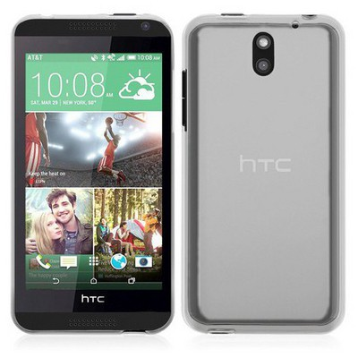 Microsonic Transparent Soft Htc Desire 610 Kılıf Beyaz Cep Telefonu Kılıfı