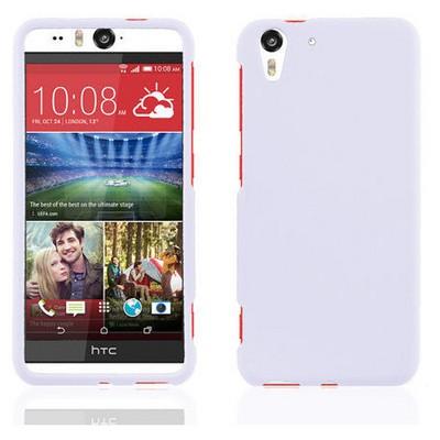 Microsonic parlak Soft Htc Desireeye Kılıf Beyaz Cep Telefonu Kılıfı