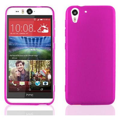 Microsonic Glossy Soft Htc Desireeye Kılıf Pembe Cep Telefonu Kılıfı