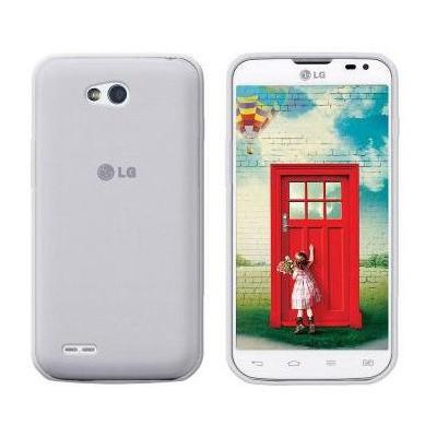 Microsonic Glossy Soft Lg L80 Kılıf Beyaz Cep Telefonu Kılıfı
