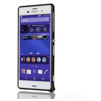 Microsonic Sony Xperia Z3 Thin Metal Bumper Çerçeve Kılıf Siyah Cep Telefonu Kılıfı