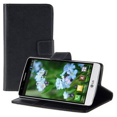 Microsonic Cüzdanlı Standlı Deri Lg G3 S (g3 Mini, G3 Beat) Kılıf Siyah Cep Telefonu Kılıfı