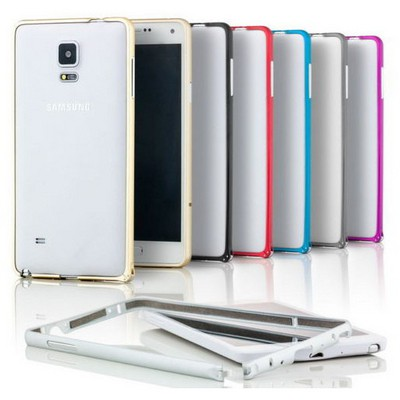 Microsonic Samsung Galaxy Note 4 Ultra Thin Metal Bumper Kılıf Sarı Cep Telefonu Kılıfı