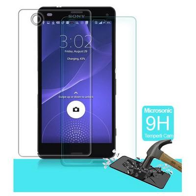 Microsonic Full Body Temperli Cam Ekran Koruyucu Sony Xperia Z3 Compact Ön + Arka Ekran Koruyucu Film