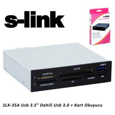 S-Link Slx-35a Usb 3.5 Dahili Usb 3.0 + Kart Okuyu Kart Okuyucu