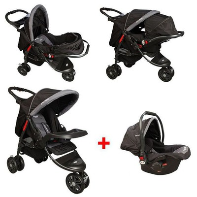 mcrae-mc-815t-triple-jogger-travel-set-3-tekerlekli-bebek-arabasi-siyah