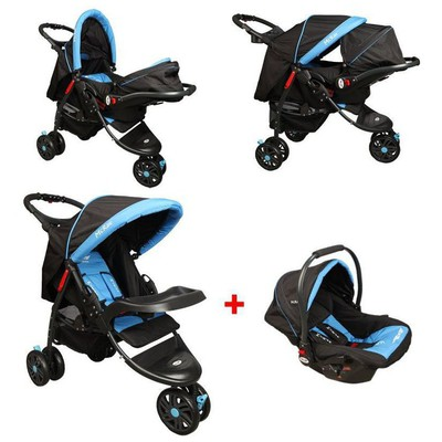 Mcrae Mc 815t Triple Jogger Travel Set 3 Tekerlekli Bebek Arabası - Mavi