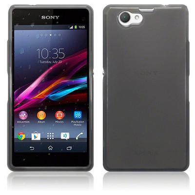 Microsonic Transparent Soft Sony Xperia Z1 Compact Kılıf Siyah Cep Telefonu Kılıfı