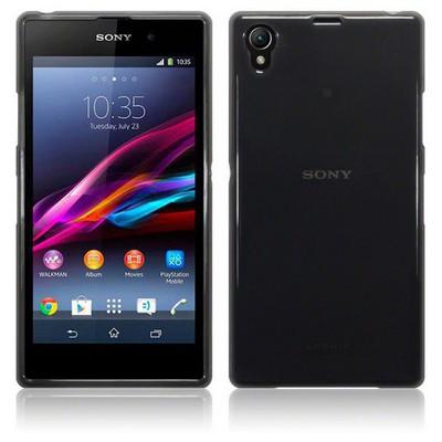 Microsonic Transparent Soft Sony Xperia Z1 Kılıf Siyah Cep Telefonu Kılıfı