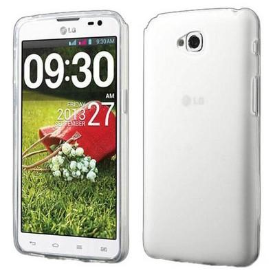 Microsonic Transparent Soft Lg G Pro Lite Kılıf Beyaz Cep Telefonu Kılıfı