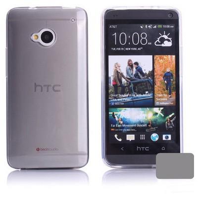 Microsonic Transparent Soft Htc One M7 Kılıf Siyah Cep Telefonu Kılıfı