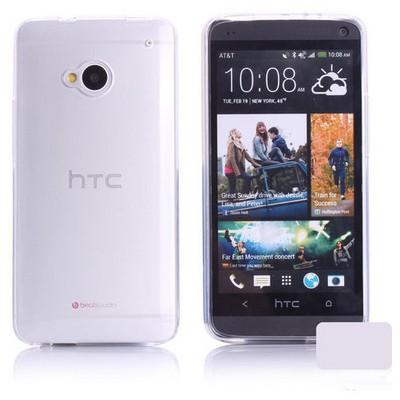 Microsonic Transparent Soft Htc One M7 Kılıf Beyaz Cep Telefonu Kılıfı