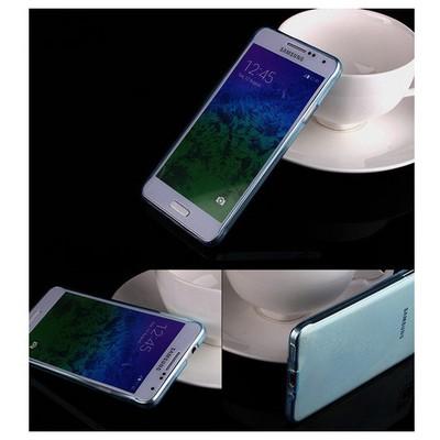 Microsonic Transparent Soft Samsung Galaxy Alpha Kılıf Mavi Cep Telefonu Kılıfı