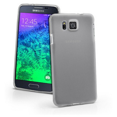 Microsonic Transparent Soft Samsung Galaxy Alpha Kılıf Beyaz Cep Telefonu Kılıfı
