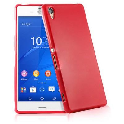 Microsonic Glossy Soft Sony Xperia Z3 Kılıf Kırmızı Cep Telefonu Kılıfı