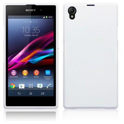 Microsonic Glossy Soft Sony Xperia Z1 Kılıf Beyaz Cep Telefonu Kılıfı
