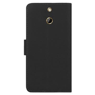 Microsonic Cüzdanlı Deri Htc One E8 Kılıf Siyah Cep Telefonu Kılıfı