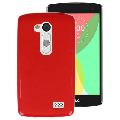 Microsonic parlak Soft Lg L Fino Kılıf Kırmızı Cep Telefonu Kılıfı