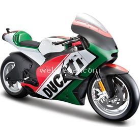 Maisto 2011 Ducati Desmosedici 1:6 Model Motosiklet Yeşil Arabalar
