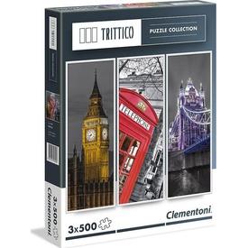 Clementoni 3x500 Parça  Trittico London Puzzle