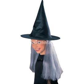 Rubies Cadı Şapkası Ve Beyaz Saçı Kostüm & Aksesuar
