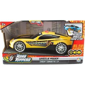 Road Rippers R.r. Wheelie Power Şahlanan Işıklı Ve Sesli Araba Chevy Corvette C7 Sa Arabalar